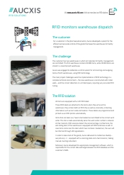 Case study RFID monitors warehouse dispatch
