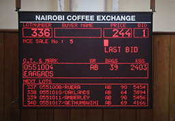 Nairobi Coffee Exchange veilzaal